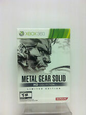 Metal Gear Solid HD Collection Limited Edition New Factory Seal (Xbox 360, 2011)