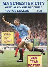 #T14.  MANCHESTER CITY 1991/92  SEASON COLOUR FOOTBALL BROCHURE