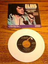 ELVIS Unchained Melody Picture Sleeve & 45  WHITE VINYL
