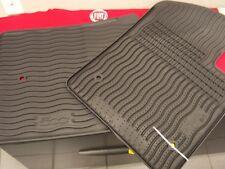 Cinquecento Fiat 500 rubber floor mats set of 2 black nice oem Fiat 82212444AB