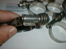 """10 NEW Heavy Duty Hose Clamps Ideal Flex-Gear Constant Tension  13/16 """" -  1-3/4"""