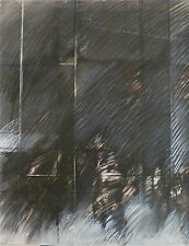 Hastaire dessin pastel signé 1980 expressionnisme Fiac Etats-Unis Canada Corée