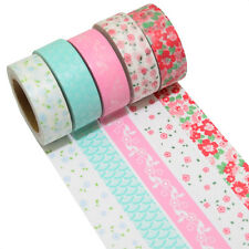 5 Rollen je 10m Washi Masking Tape Basteln Klebeband  Reispapier 0,22 Eur/m 9580
