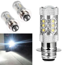 2x P15D H6 6000K Super Bright LED Bulb Headlight Motorcycle Hi/Lo Beam Headlamp