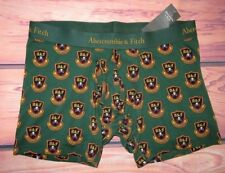 MENS ABERCROMBIE & FITCH GREEN BOXER BRIEF SIZE XL (35/36)