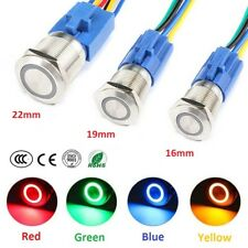 16/19/22mm S/S Round Metal Push Button Momentary Switch for Car Home Appliances