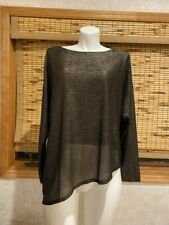 NWT V BY EVA BLACK AND GOLD DOLMAN SLEEVE TOP SIZE 2X