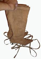 bottes peau de pêche couleur naturel et lacets 37  talon très confortable