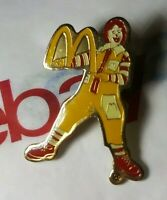 Vintage 80s RONALD McDonald Mascot Clown HOLDS Mcdonalds Golden Arches SIGN Pin