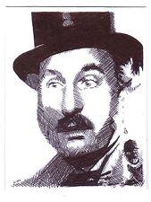 ACEO Art Sketch Card Actor Christopher Benjamin as Henry Gordon Jago