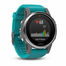 Garmin fenix 5 Black Sapphire w Turquoise Band Multisport GPS Watch 010-01685-01
