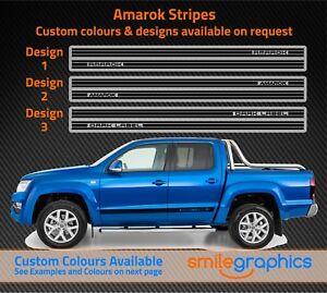 VW Amarok Stripes Dark Label Custom Designs Stickers Black - Other Colours