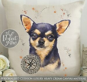 Personalised Cushion Chihuahua Painting Breed Funny Gift Pet Present Christmas