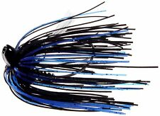 Mega Strike Evolution 2 Heavy Cover Jig 1/2oz Black/Blue- Bass Yellow Belly Lure
