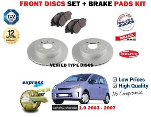 FRONT  BRAKE DISCS AND PADS FOR DAIHATSU CHARADE 41451434644 OEM QUALITY