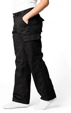 New Ladies Work Cargo Combat Action Trousers Pants Black Navy Top Quality