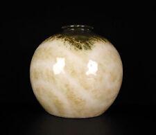 Vase boule rose vers 1930 Camille Tharaud 18 cm porcelaine de Limoges