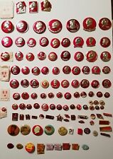 Lot of 265 Valuable Vintage Mao Zedong Badges Chinese Cultural Revolution Items
