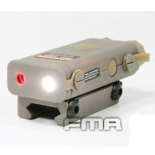 Airsoft peq 10 laser rouge lumière led torche lampe de poche rail 20mm tan de uk pointeur