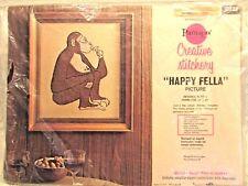 Vintage Paragon Drinking Monkey Cross Stitch Embroidery Kit Happy Fella