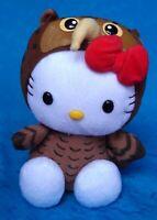 SANRIO HELLO KITTY DRESS AS AN OWL PLUSH DOLL SOFT TOY