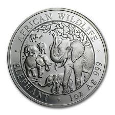 2008 1 oz Silver Somalian Elephant - Brilliant Uncirculated - SKU #60922