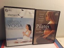Lot of 2 Exercise During Pregnancy Dvds: Yoga Prenatal, Pilates During Pregnan.