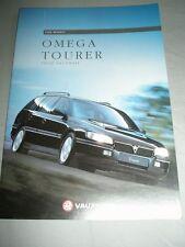 Vauxhall OMEGA TOURER Opuscolo Modelli 1996