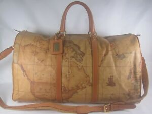 AUTH ALVIERO MARTINI PRIME CLASSE   BOSTON  PVC SHOULDER BAG/TRAVEL BAG