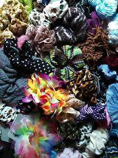 lot of 144 randomly picked Scrunchies hair ties various styles designs colors