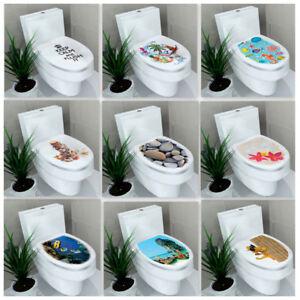 WC Sitz Toilette Klodeckel Sticker Wandbilder Aufkleber DIY Badezimmer Deko F5V3