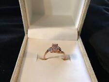 Mawi Kunzite & Diamond 10K Rose Gold Ring 1.32cts size 8