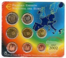 Pièces euro d'Espagne Année 2002