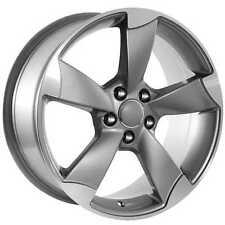 20 Audi Gunmetal/Machined Face Rotor style Replica Rims