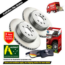 GREAT WALL V200 V240 K2 280mm 07/2010-ON FRONT Disc Rotors (2) & 4X4 Pads (1)