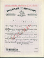 More details for xt545= bank of adelade circular letter of credit with letter of indication
