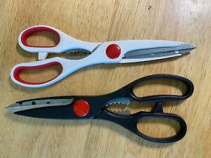 2 PAIR Betty CrockerSharp Kitchen Scissors Shears Multi Purpose Stainless Steel