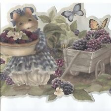 Country Berry & Mice Holly Pond Hill - 45 feet ONLY $20 - Wallpaper Border 420