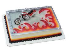 Motorcycle cake decoration Decoset cake topper set toy favor party keepsake