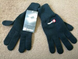 LOTTO ADULT BLACK THERMAL GLOVES BRAND NEW BNWT BUNDLE X15