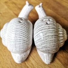 Schnecken Pfefferstreuer Salzstreuer Streuer Set Keramik Weiß  Design Snail