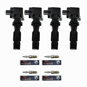 Engine Ignition Coils + Bosch Spark Plugs for Ford Fusion/ Mercury Milan 2.3L L4