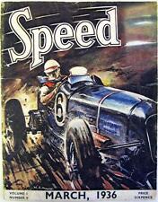 SPEED Magazine Mar 1936 - Midget Car Racing, Monte Carlo Rally Results,