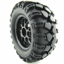 RC1:10 Off-Road RC Car 12mm Hub Y Type Wheel Rim & Tires Black Pack 4PCS