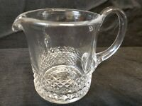 "Waterford Signed Cut Crystal Alana Short Pitcher 153946 4.5"" Tall 4"" diameter"