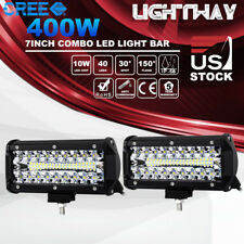2x 7Inch 400W CREE LED Work Light Bar Spot Flood Combo Driving Lamps JEEP Truck