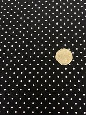 Swiss dots noir riley blake tissu fq 45cm x 56cm + plus 100% coton craft