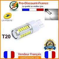 1 Ampoule 33 LED T20 7443 W21 5W Blanc Xénon Feux De Jour Recul Brouillard