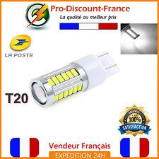 1 Bombilla 33 LED T20 7443 W21 5W Blanco Xenón Luces Diurnas Retroceso Niebla