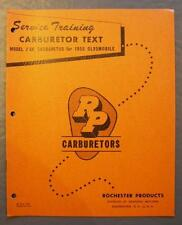 GM Rochester Products Service Training Carburetor Text Model 2GC 1955 Oldsmobile